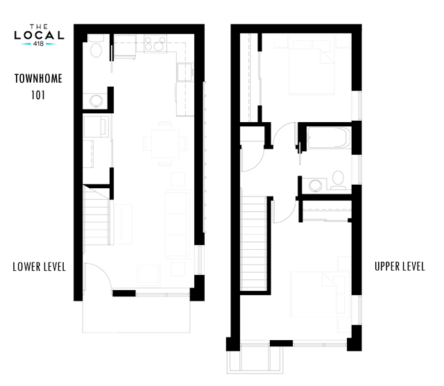 Two Bedroom 101 Floorplan