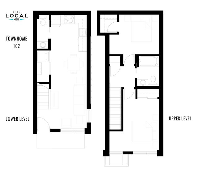 Townhome 102 Floorplan