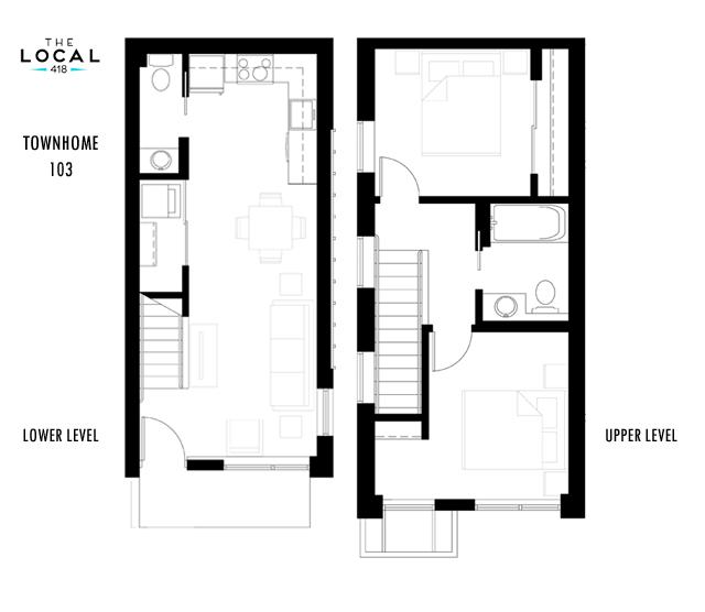 Townhome 103 Floorplan
