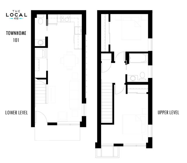 Two Bedroom 101 Floorplan